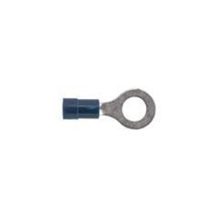 Klein Tools C61214 60000 Series Insulated Bell-Mouth Terminals-Ring Tongue, 22-18 AWG, 100-Pack, 17/64-Inch Hole