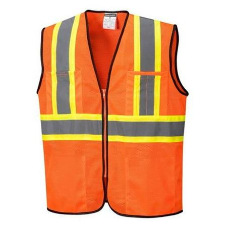 Portwest US381 Large Frisco Hi-Visibility Contrast Mesh Vest, Yellow - Regular - image 1 of 1