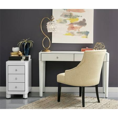 Amazing Home Fare White Glass Desk Chest And Chair Download Free Architecture Designs Oxytwazosbritishbridgeorg