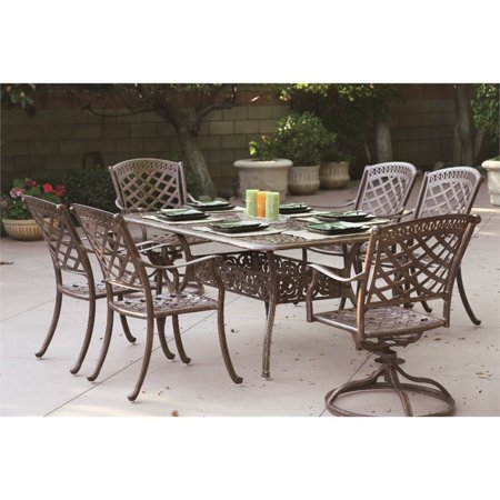 Darlee Sedona 7 Piece Patio Dining Set with Seat Cushion ()