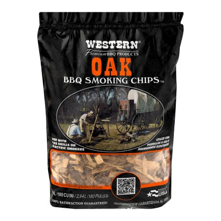 Western Premium BBQ Products Post Oak Smoking Wood Chips