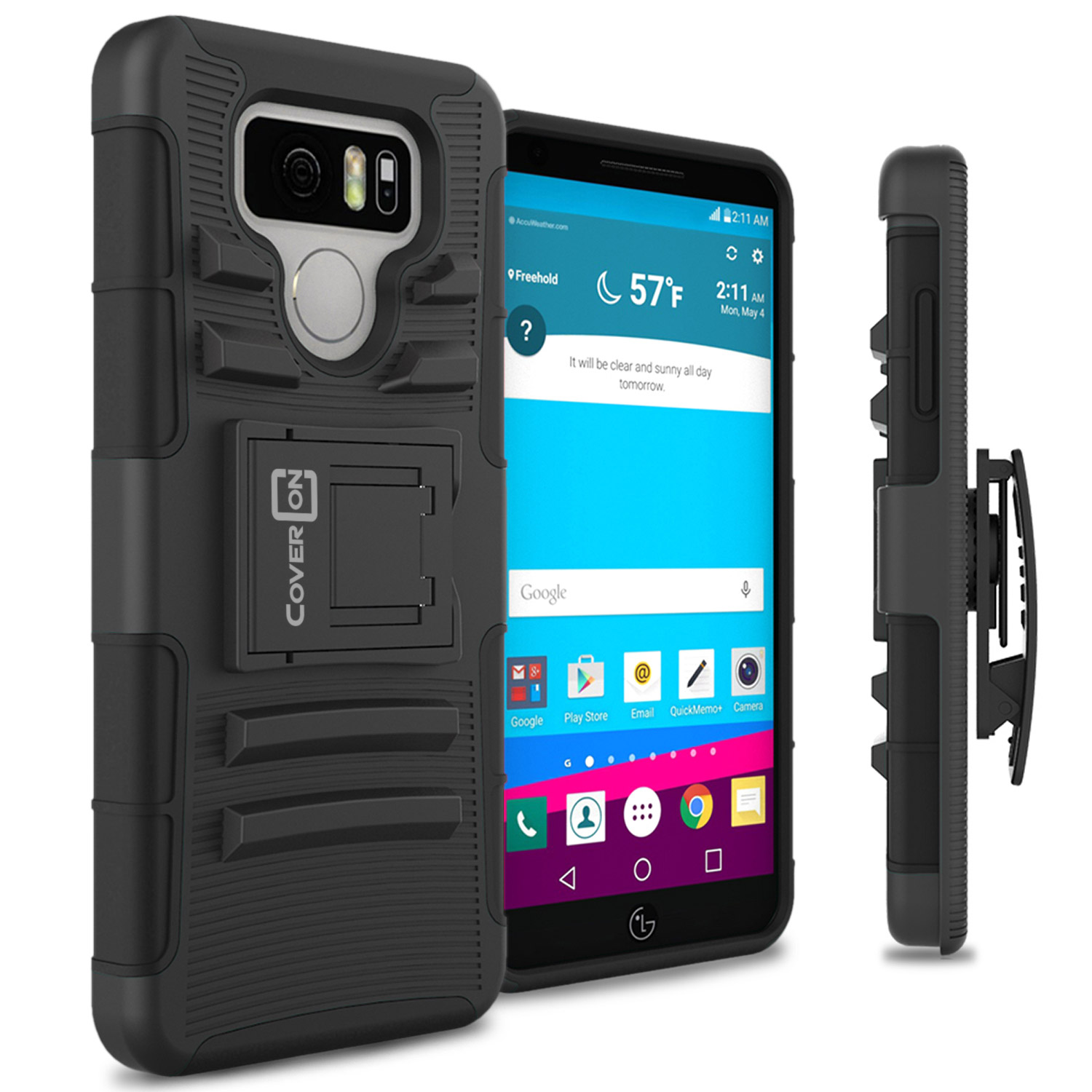 detailed look 9f88e 0990c CoverON LG G6 / G6 Plus Case, Explorer Series Protective Holster ...