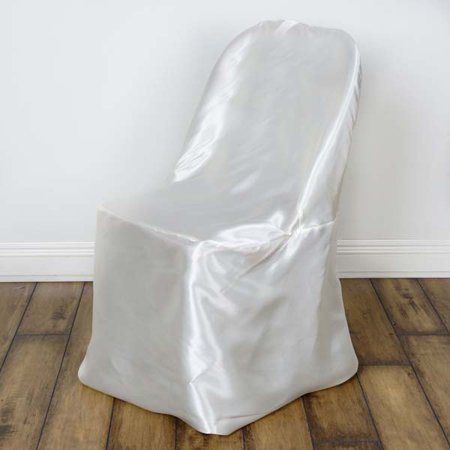 Shinny Satin Wedding Event Folding Chair Covers, -