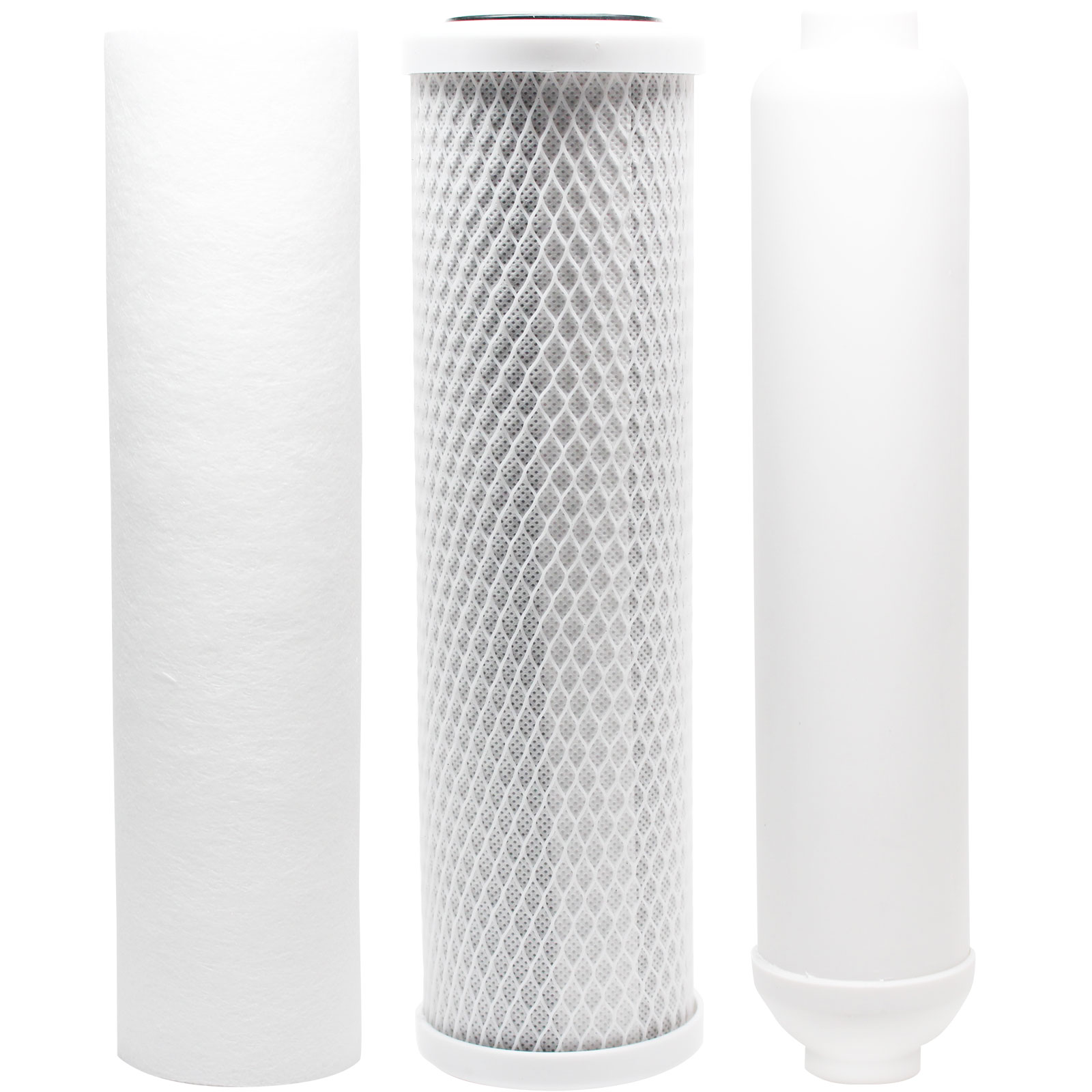 Replacement Filter Kit for Rainsoft 9596 RO System - Includes Carbon Block Filter, PP Sediment Filter & Inline Filter Cartridge - Denali Pure Brand