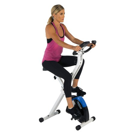 ProGear 225 Folding Foldable Magnetic Upright Exercise Bike with Heart Pulse