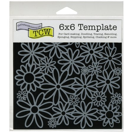 """Crafter's Workshop Template 6""""X6""""-Daisy Cluster - image 1 de 1"""