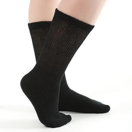 12 Pack of Diabetic Socks Men (11-13, Black)