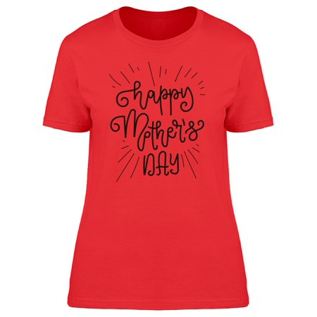 Happy Mothers Day Curly Font Tee Women's -Image by Shutterstock - Happy Mother Sday