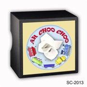 Caravelle Designs SC-2013 Ah Choo Choo Square Tissue Boxes