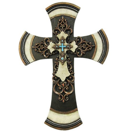 Wall Cross Decor (De Leon Collections Layered Cross Wall)