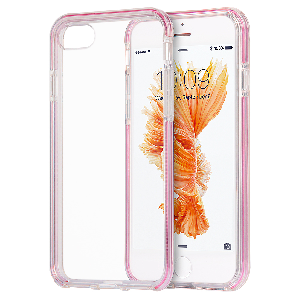 iPhone 7 Case Hybird Case Ultra Thin Agua Clear + Pink Inner Frame
