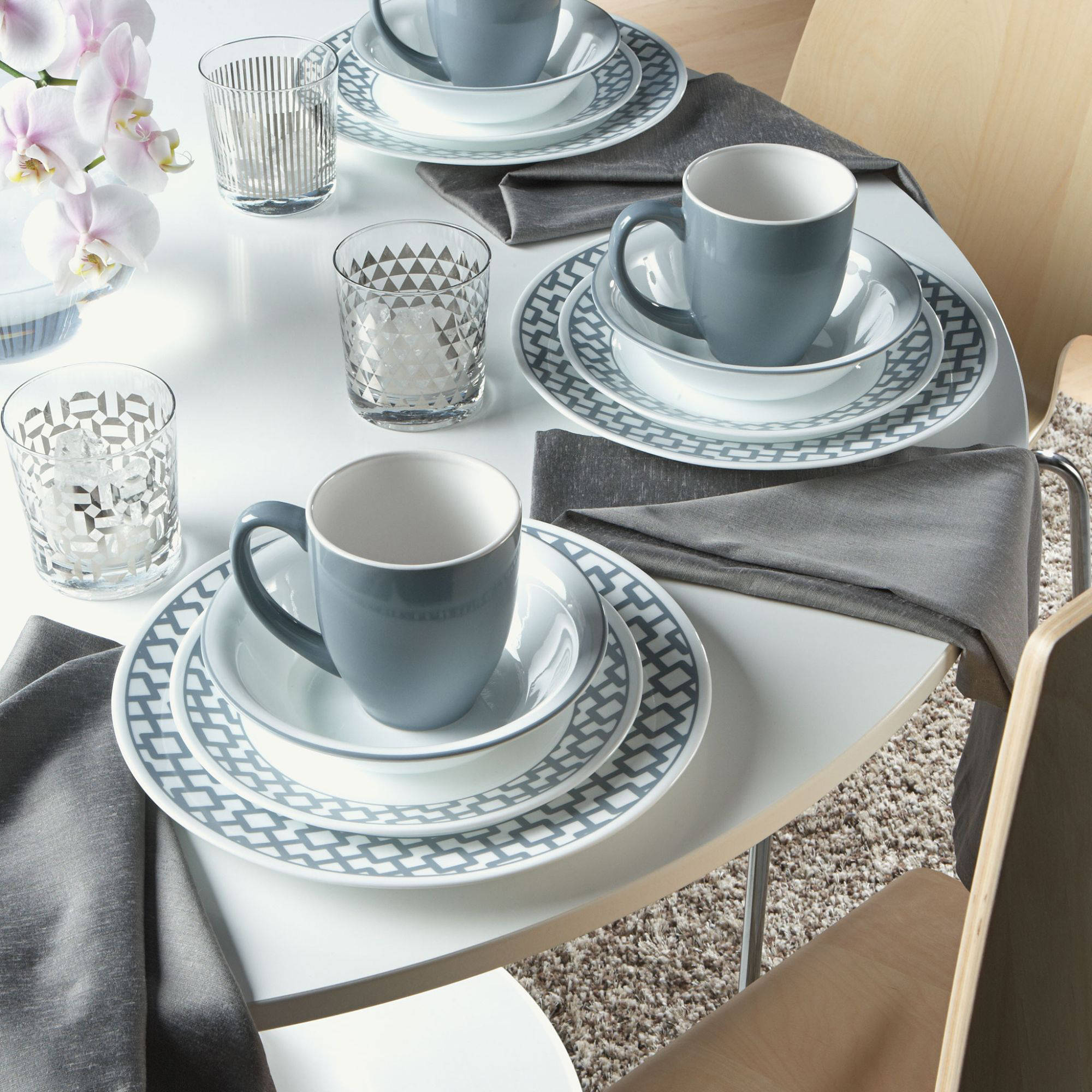 Corelle Impression Urban Grid 16-piece Dinnerware Set