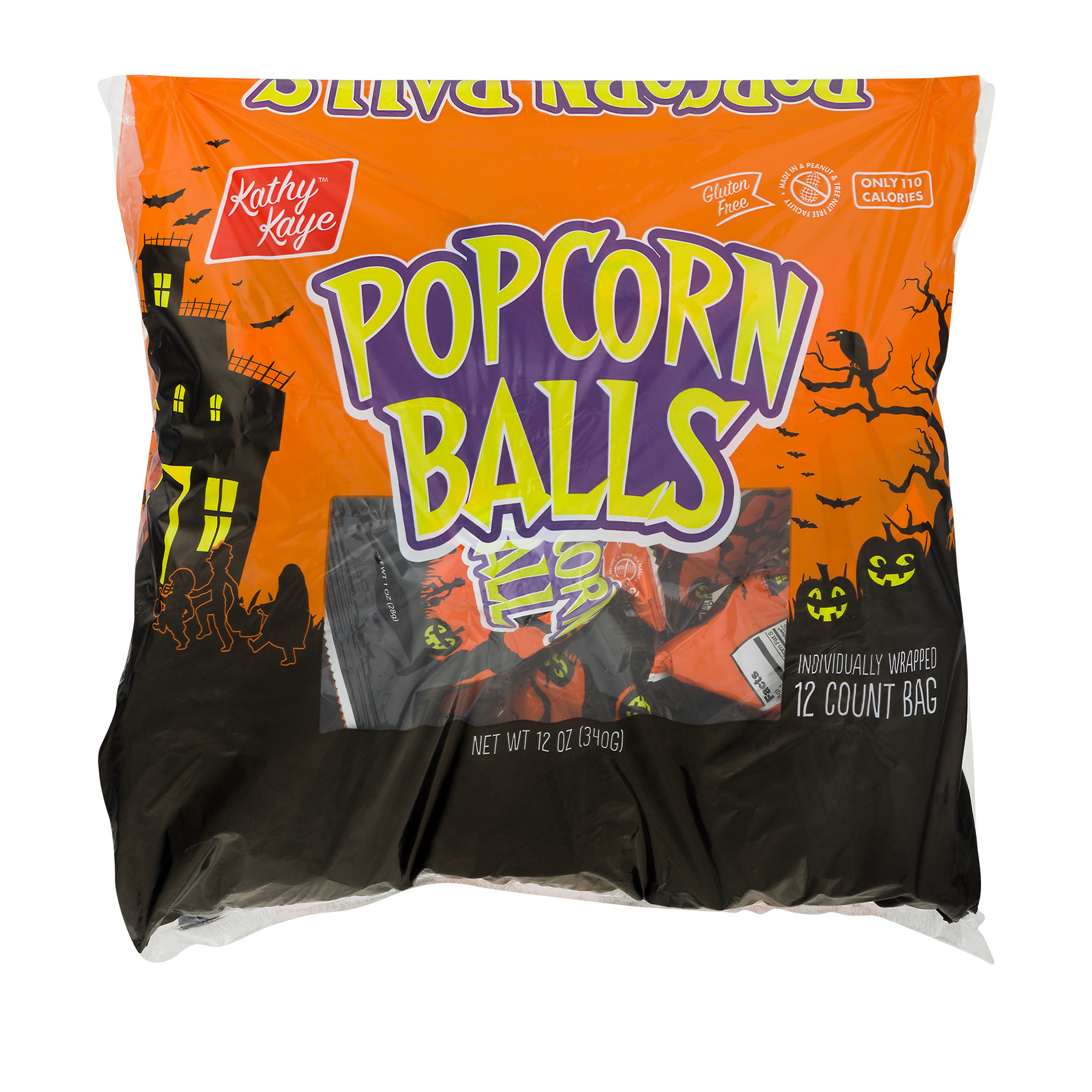 Kathy Kaye Halloween Popcorn Balls 1 oz 12 ct Walmart