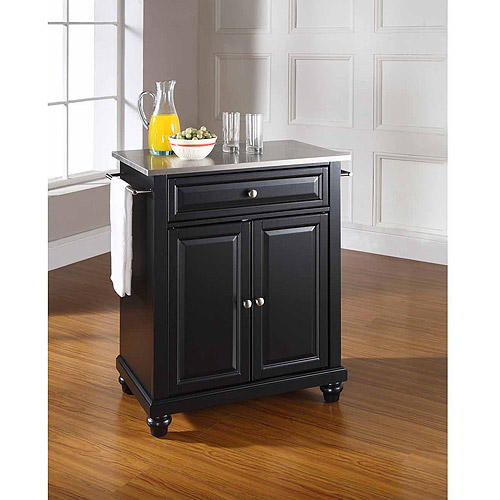 crosley furniture cambridge stainless steel top portable kitchen