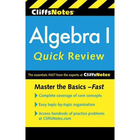 Deals CliffsNotes Algebra I Quick Review Before Special Offer Ends