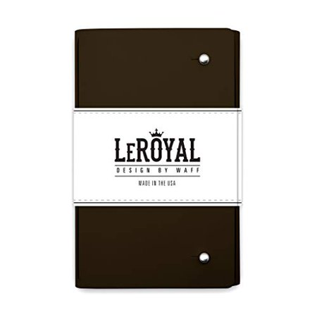 "WAFF, LeRoyal Recycled Leather Journal, 7"" x 5.3"" x 1"" - Brown - image 1 of 1"