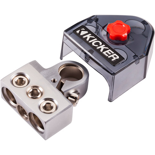Kicker Positive/Negative Battery Terminal 2 x 0/8-Gauge and 1 x 4/8-Gauge Outputs