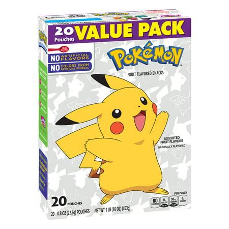 (2 pack) Betty Crocker Nintendo Pokémon Fruit Flavored Snacks Assorted Fruit, 20 ct, 16 oz - Top 20 Halloween Snacks