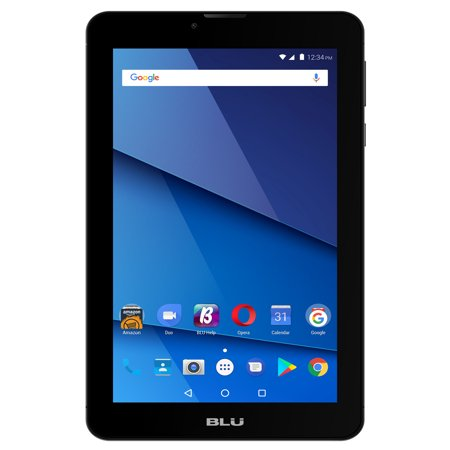 "BLU 7"" Touchbook M7 Pro, Android 7.0, 3G (850/1900/2100), Quad-Core, 1.3GHz, 8GB Storage, 1GB RAM, Front and Rear Camera, Dual Slim, Black"