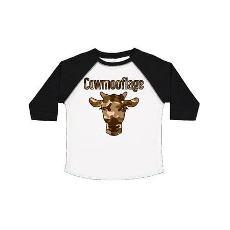 21bd207f Inktastic - Cowmooflage BRN Toddler T-Shirt - Walmart.com