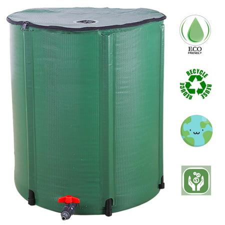 Ktaxon Rain Barrel Outdoor Patio Water Storage Barrel 100 Gallon Green