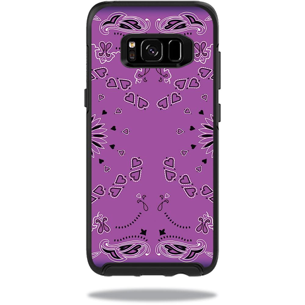 MightySkins Protective Vinyl Skin Decal for OtterBox SymmetrySamsung Galaxy S8 Case sticker wrap cover sticker skins Purple Bandana