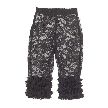 Ganz Baby Lacy Leggings Black (Lacy Leggings For Women)