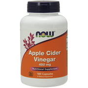 Now Foods Apple Cider Vinegar Capsules, 450 Mg, 180 Ct