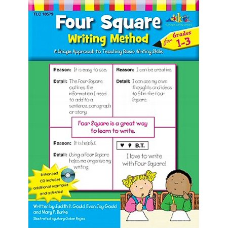 Four Square: Writing Method Grades 1-3 W/Enhanced CD : A Unique Approach to Teaching Basic Writing Skills - Halloween 4 Square Writing