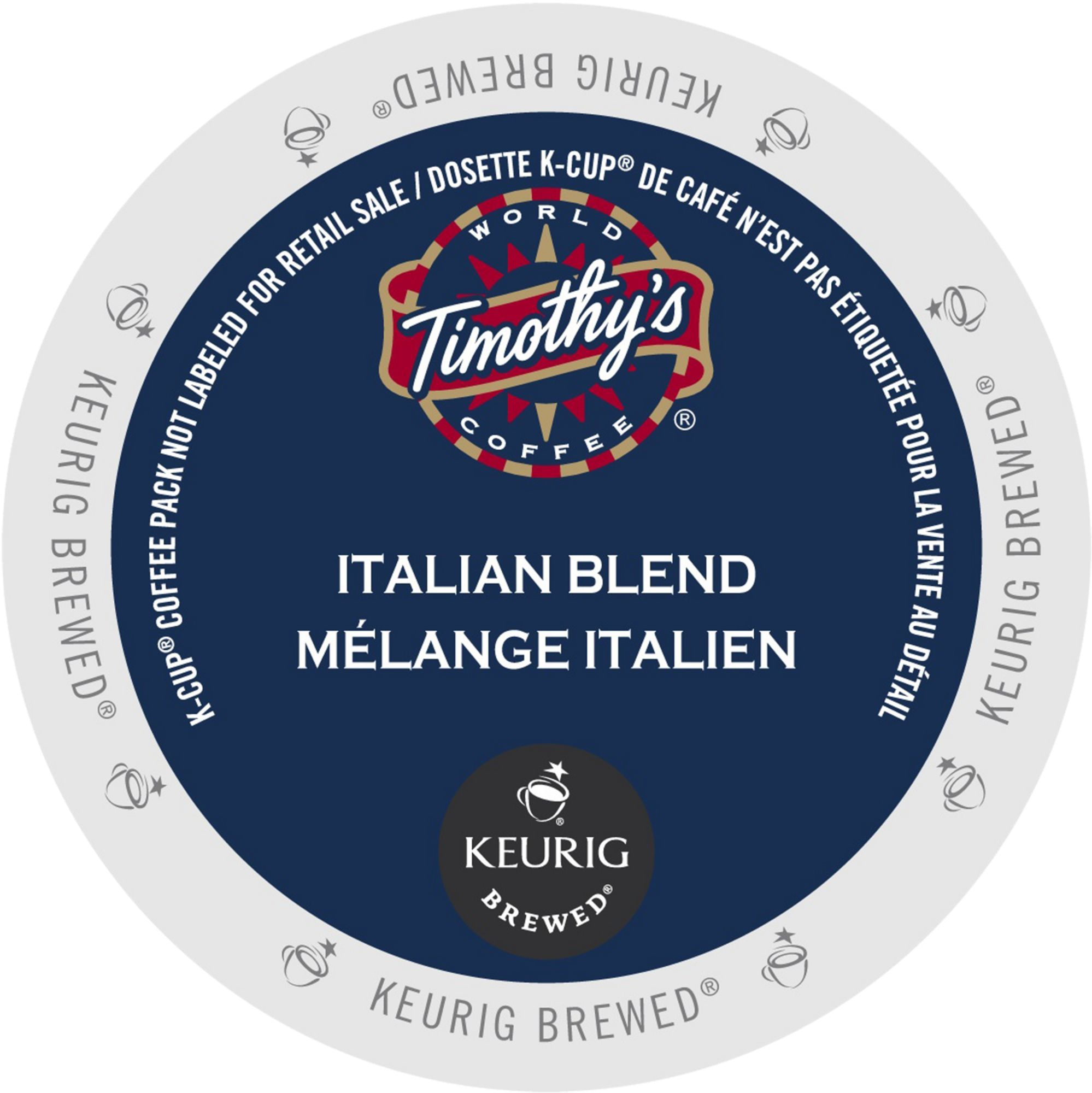 Timothy's Italian Blend Coffee, K-Cup Portion Pack for Keurig Brewers (22 Count)