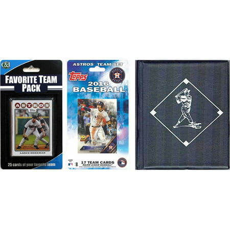 C&I Collectables MLB Houston Astros Licensed 2016 Topps Team Set and Favorite Player Trading Cards Plus Storage Album