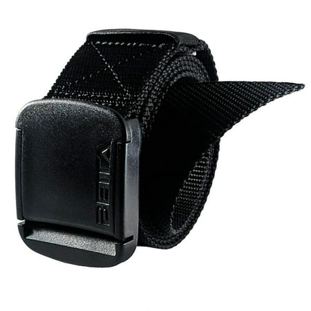 1.5 Inch Wide Men's Nylon Web Belt with High-Strength Adjustable Buckle (Large,