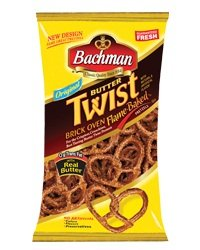 Bachman Butter Twist Pretzels 10 oz (4 Bags) by Bachman