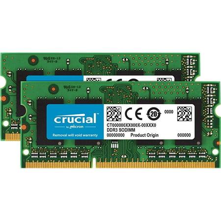 crucial 8gb kit (4gbx2) ddr3/ddr3l 1600 mt/s (pc3-12800) sodimm 1.35v/1.5v 204-pin memory for mac -