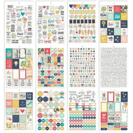 Christian Faith Stickers - Carpe Diem Faith A5 Stickers 12/Pkg