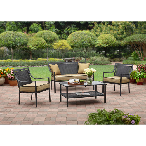 Braddock Heights 4-Piece Patio Conversation Set, Seats 4