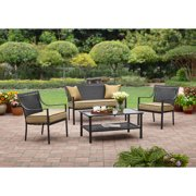 Madrid 4 piece patio conversation set seats 5 for Braddock heights chaise lounge