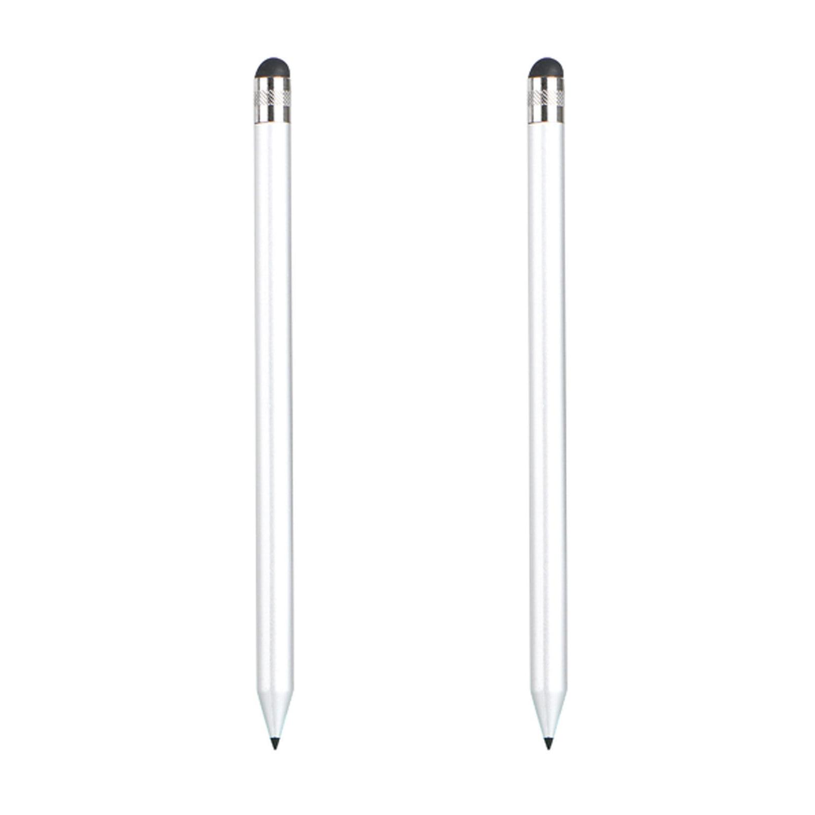 Black+White 2 Pack Flat Style High Sensitivity Touch Screen Stylus Pens