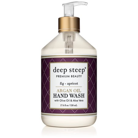 Deep Steep Argan Oil Liquid Hand Wash, Fig Apricot, 17.6 Oz (Fresh Fig Apricot)
