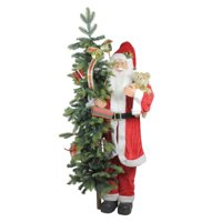 Northlight 50 in. Musical Standing Santa Claus with Lighted Christmas Tree