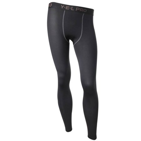 Compression Hockey Pants (Mens Compression Base Layer Pants Tight Long Leggings Gym Sports Gear )