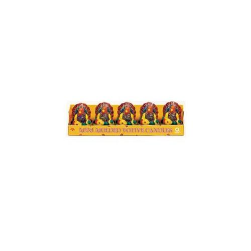 Amscan 142879 Mini Molded Turkey Votive Candles