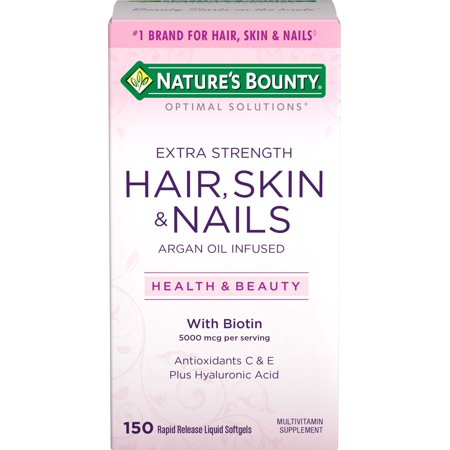 Nature's Bounty Optimal Solutions Hair, Skin & Nails Extra Strength, 150 - Natures Bounty 100 Tablets
