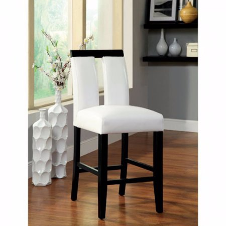 Counter Height Chair, Black Finish, Set Of 2