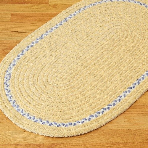 Colonial Mills Chenille Accent Stripe Yellow Kids / Juvenile Bath Rug
