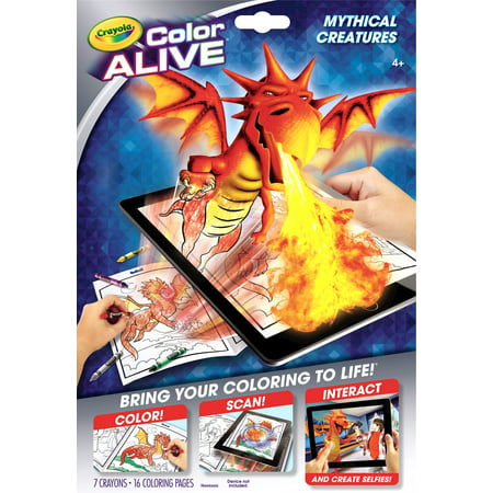 Crayola color alive mythical creatures for Crayola color alive coloring pages