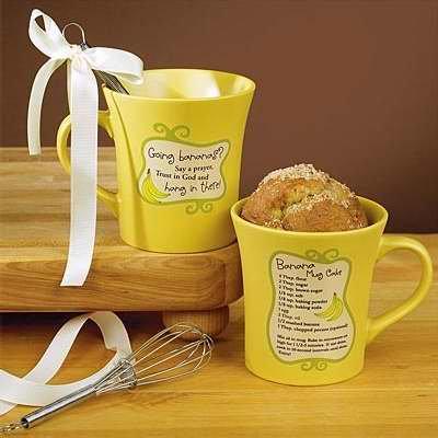 Abbey Press - Abbey Press 128212 Mug My Cup Runneth Over Say A Prayer Banana Mug Cake