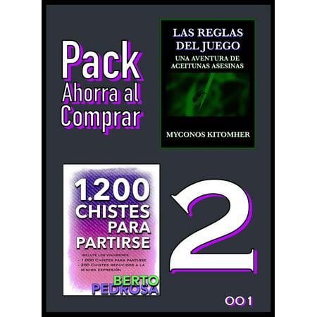 Pack Ahorra al Comprar 2: 001: Las reglas del juego: Una aventura de aceitunas asesinas & 1200 Chistes para partirse: La colección de chistes definitiva - eBook - Juegos Para Halloween Para Una Fiesta