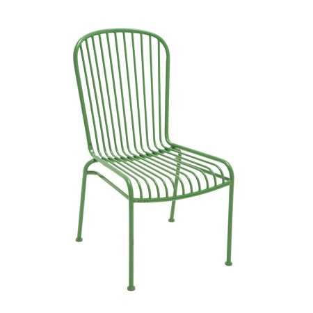 decmode metal chair green multi color
