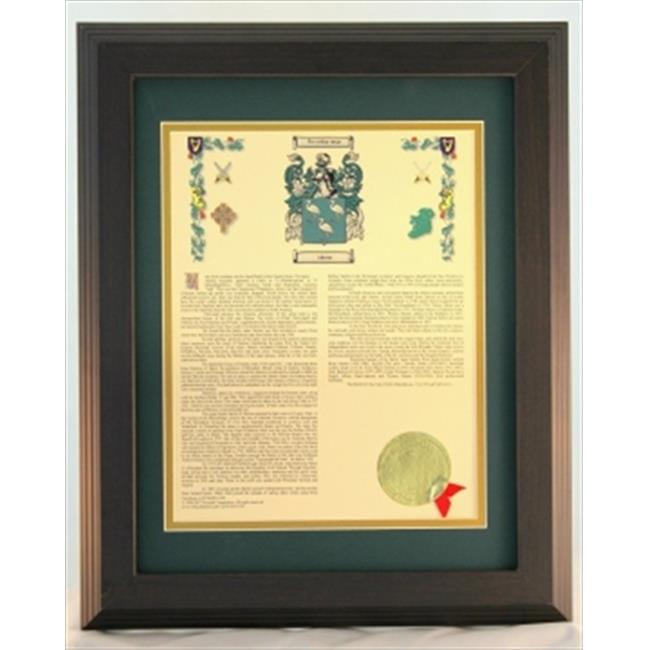 Townsend H003cooke Personalized Coat Of Arms Framed Print.  Last Name - Cooke